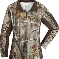 Rocky Women's SilentHunter 1/4 Zip Camo Shirt, , medium