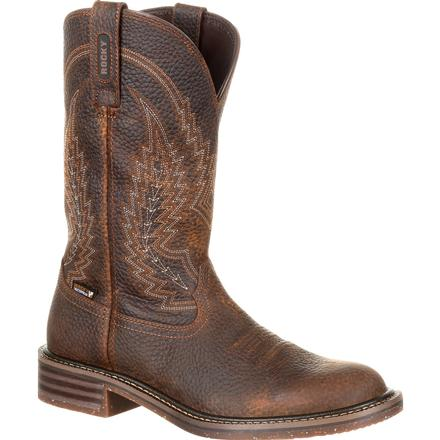 Rocky Riverbend Waterproof Western Boot, , large