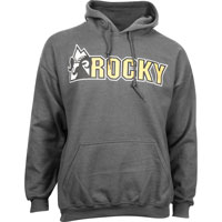 Rocky Logo Men's Hoodie, GRAY, medium