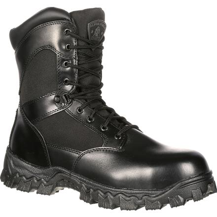 Rocky AlphaForce Zipper Waterproof Duty Boot, , large