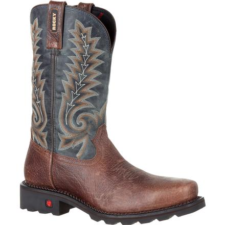Rocky Gunnison Steel Toe Waterproof Western Boot, , large