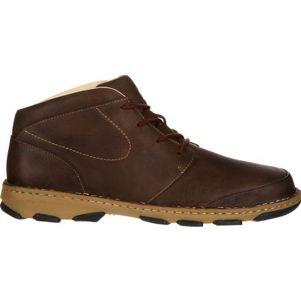 rocky cruiser casual  men's brown leather chukka boots