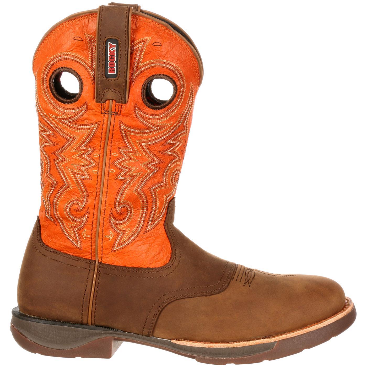 8633a3b928c Rocky LT Waterproof Saddle Western Boot