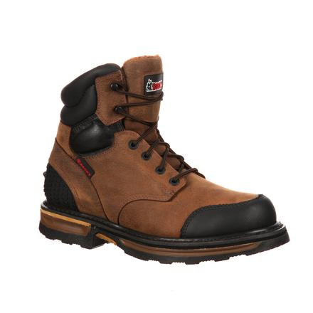 Rocky Elements Wood Steel Toe Puncture Resistant Work Boot, , large