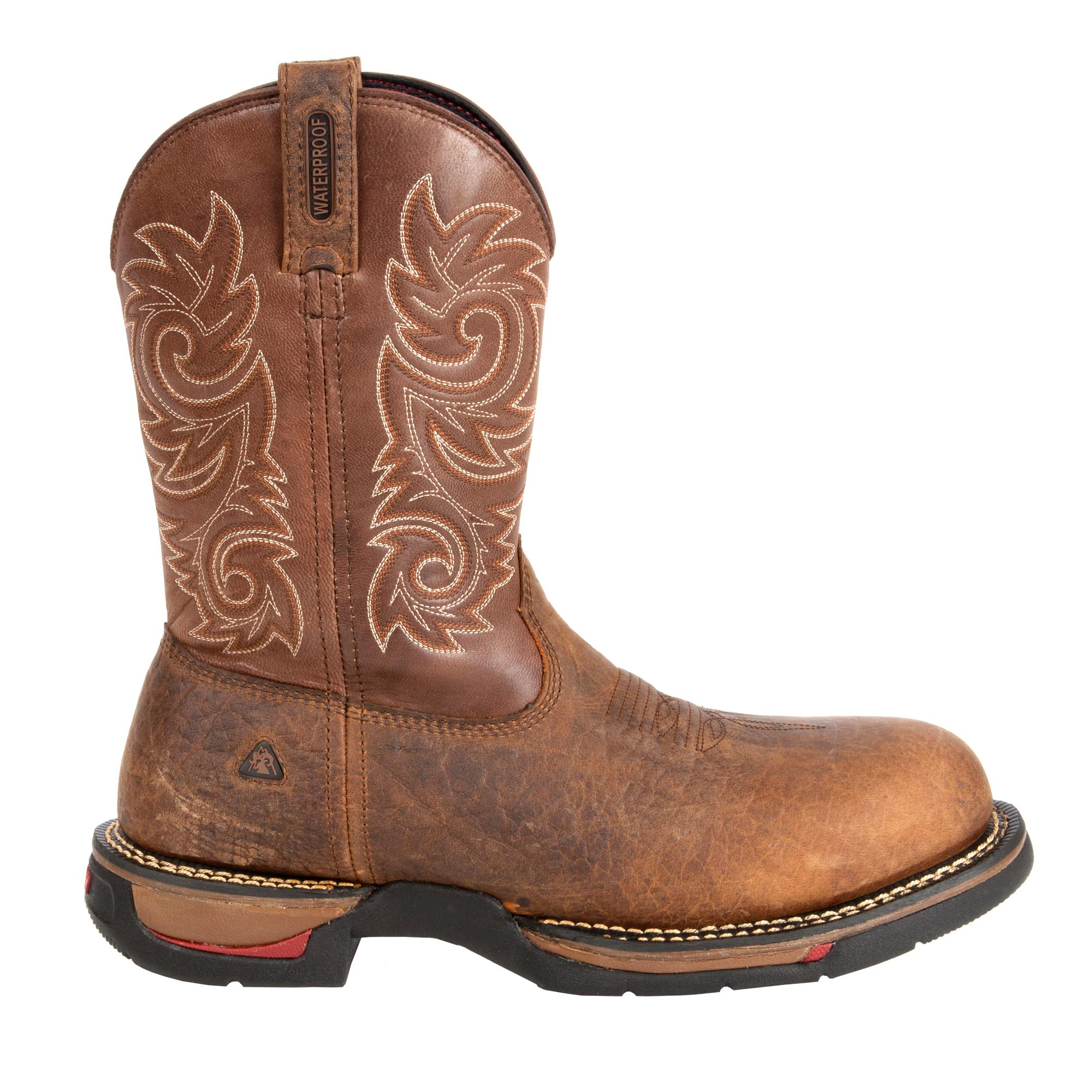 RW025 Rocky Long Range Waterproof Carbon-Fiber Toe Western Work Boots