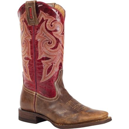 Rocky HandHewn Women's Square Toe Western Boot, , large