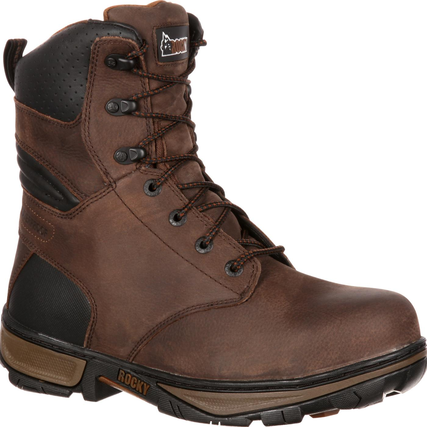 Rocky Forge Men s Brown Steel Toe Waterproof Work Boots 939baf9fc692