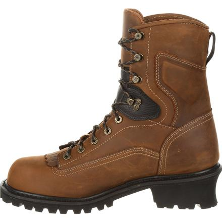 "Rocky Sawblade 8"" Composite Toe Waterproof Logger Work Boot, , large"