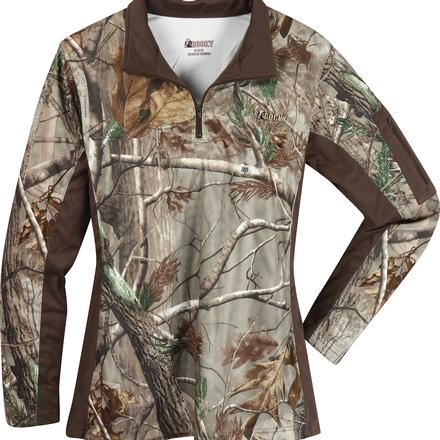 Rocky Women's SilentHunter 1/4 Zip Camo Shirt
