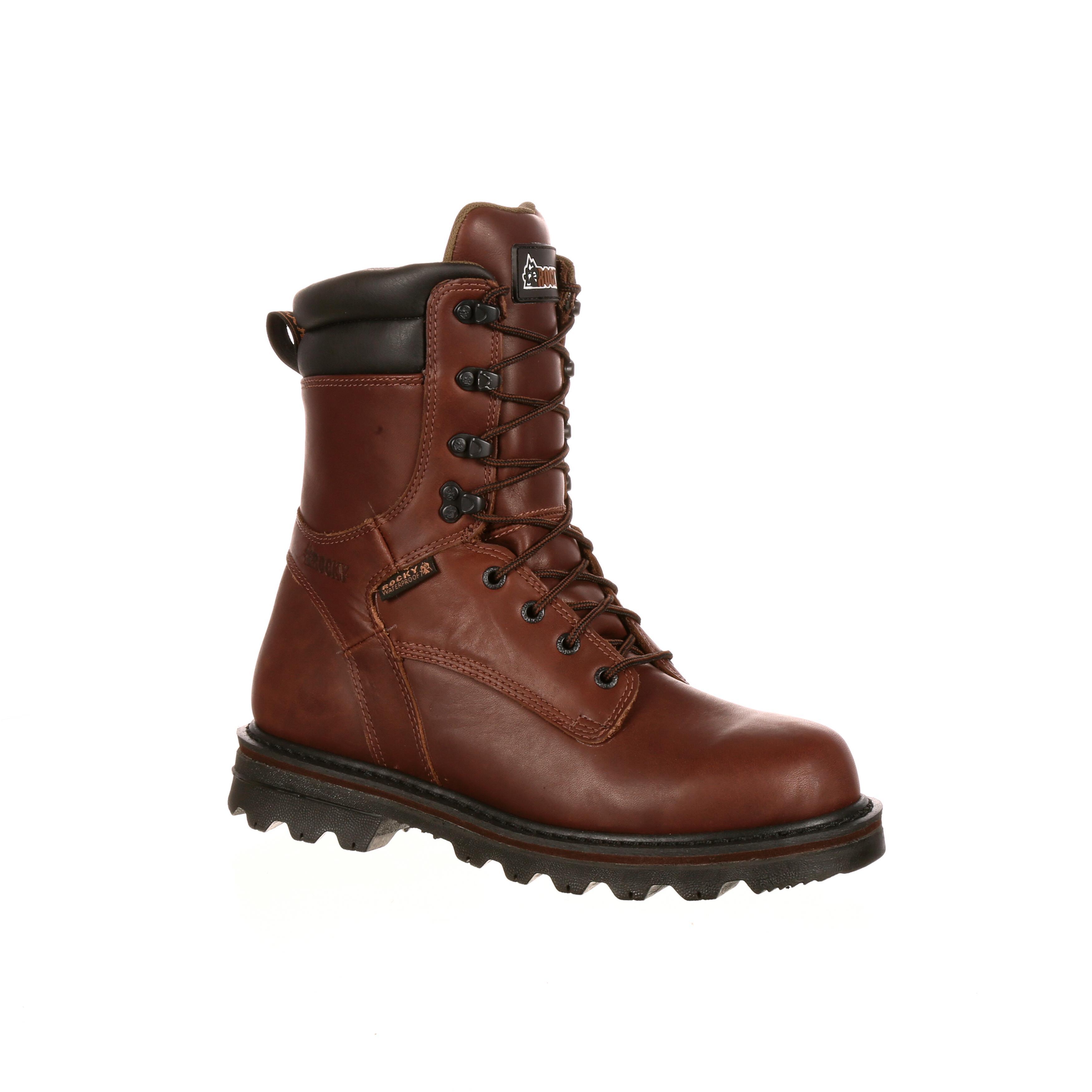 Rocky Boot Men S Guaranteed Waterproof 9 Inch Work Boot