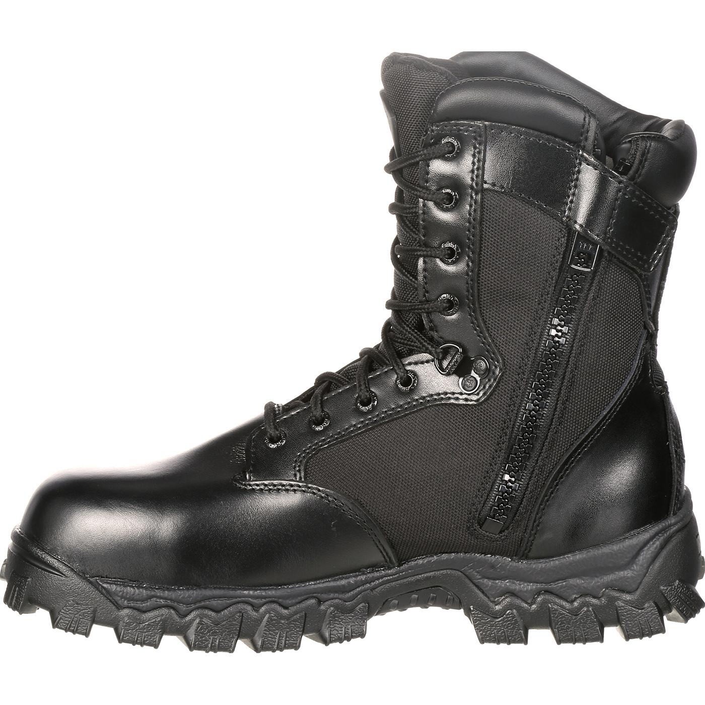 22dc0d1ba3bd Rocky AlphaForce Zipper Composite Toe Waterproof Duty Boot  6173