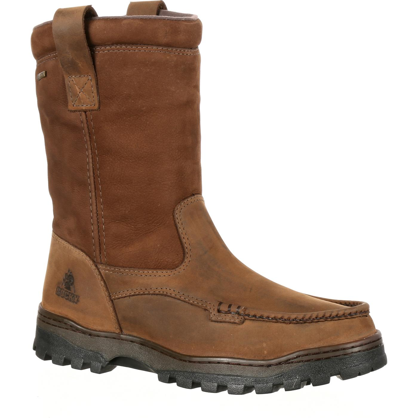 Rocky Outback: GORE-TEX Waterproof Wellington Moc Toe Boot