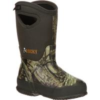 Rocky Core Big Kids' Rubber Waterproof 400G Insulated Pull-on Boot, , medium