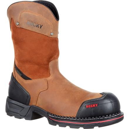 Rocky Maxx Composite Toe Waterproof Pull-On Work Boot, , large