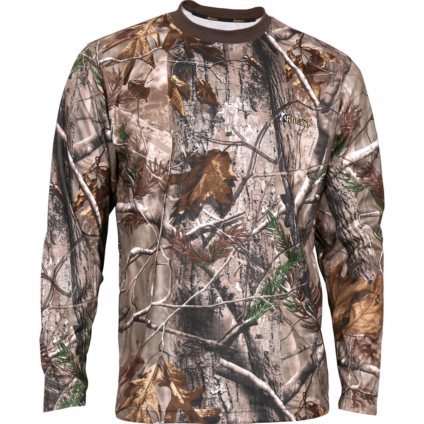 e0776ded4bbcc Rocky SilentHunter Long-Sleeve Performance Shirt, Realtree AP, large