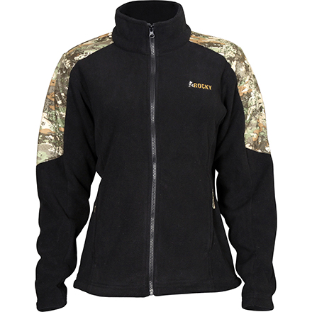 Rocky Women's Full Zip Fleece Jacket, Rocky Venator Camo, large