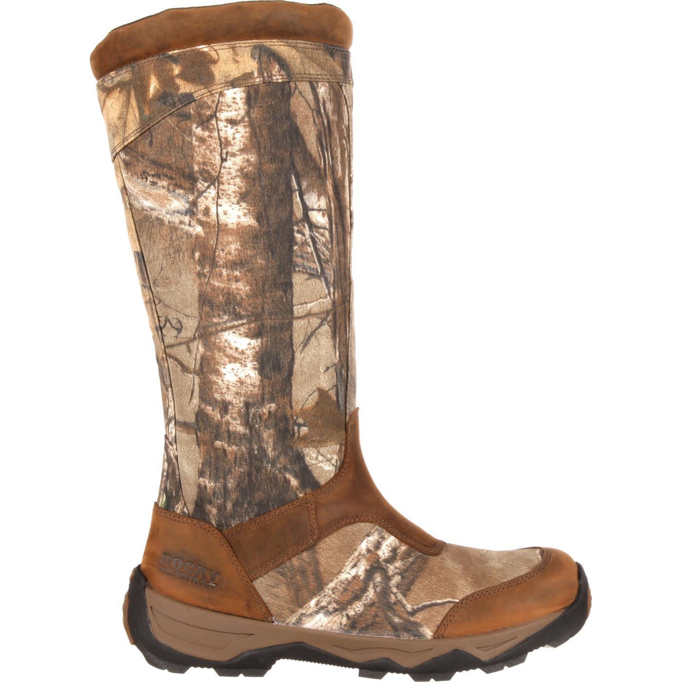 Rocky Retraction Men S Waterproof Side Zip Camo Snake Boot