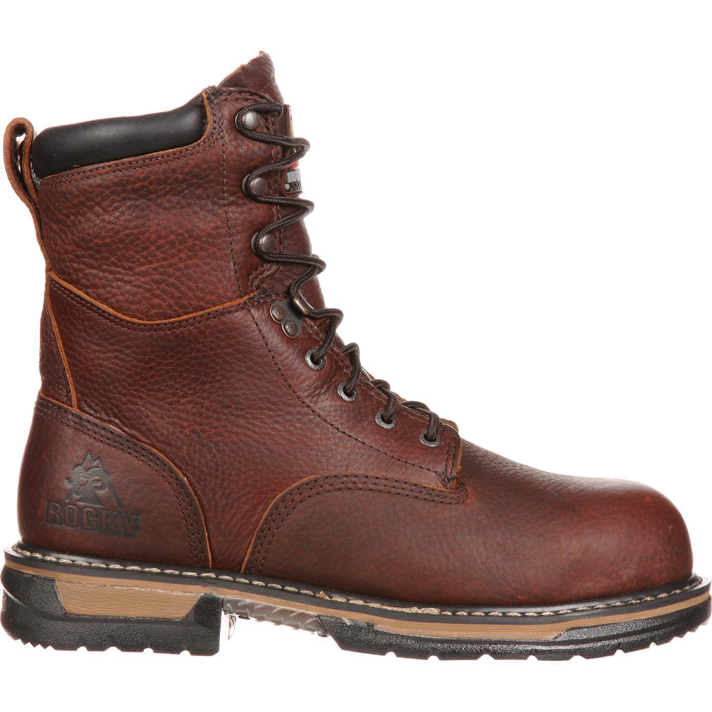 eb08db10f534 Rocky IronClad Men s Steel Toe Waterproof Work Boot