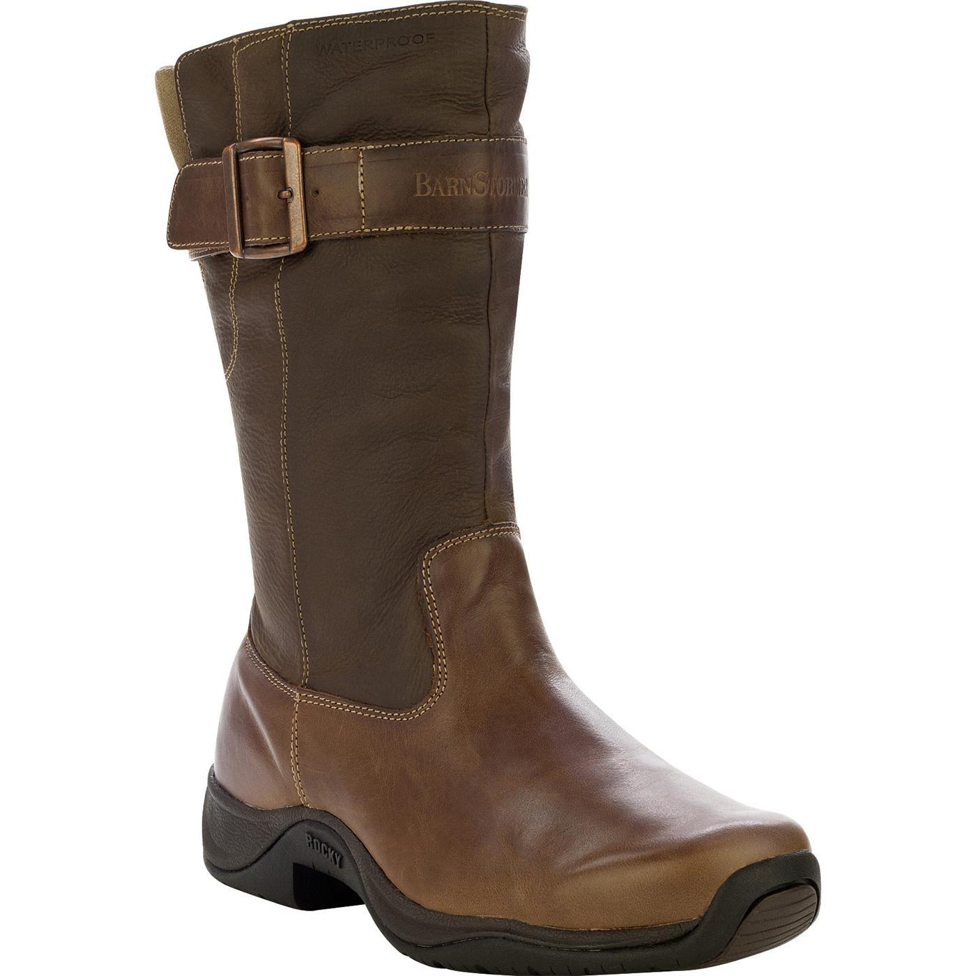 Rocky Barnstormer Women S 11 Quot Brown Leather Pull On Boots