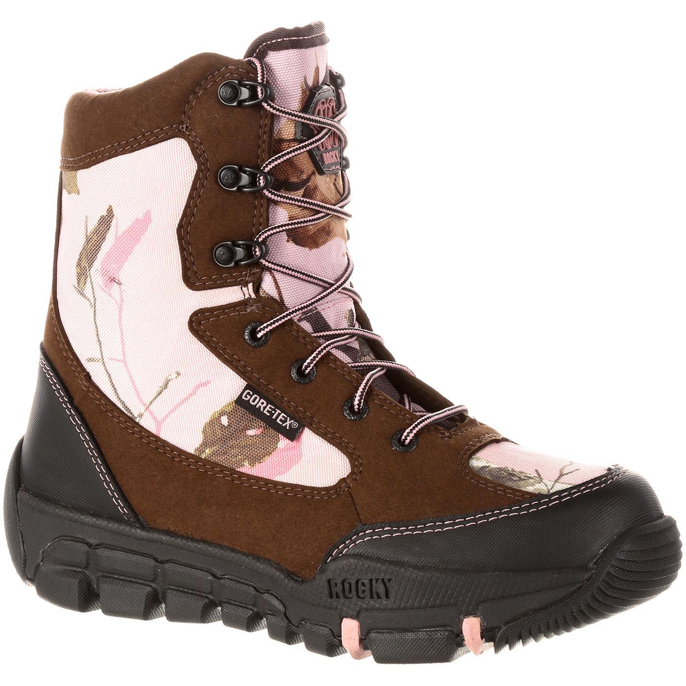 Rocky Women S Pink Camo Gore Tex Waterproof Insulated Boot