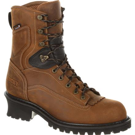"Rocky Sawblade 8"" Composite Toe Waterproof Logger Work Boot"