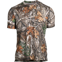 Rocky Camo Short-Sleeve Performance Tee Shirt, Realtree Edge, medium