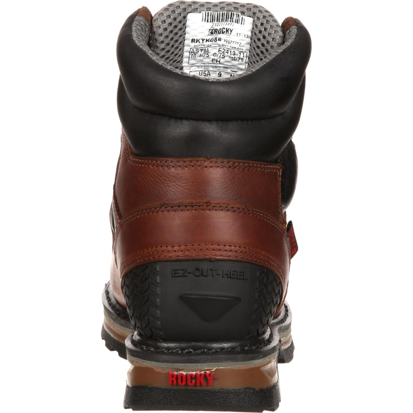 Rocky Elements Waterproof Steel Toe Met Guard Work Boot