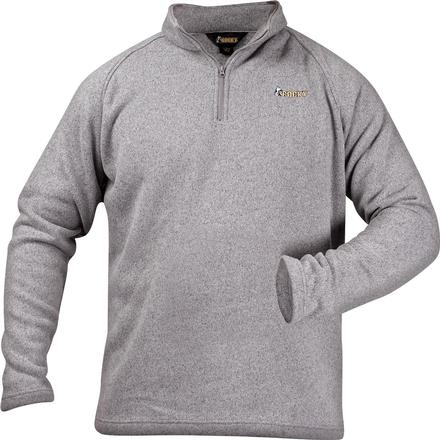 Rocky Casual Lifestyle 1/4 Zip Sweater Fleece, GRAY, large