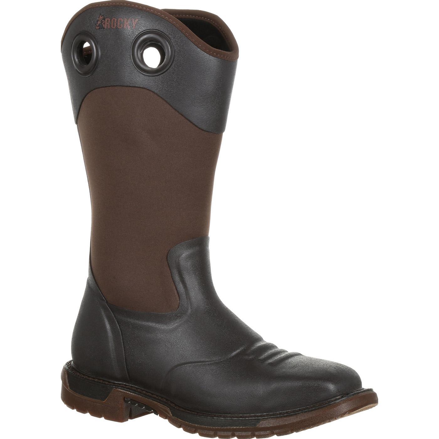 704e1312826 Rocky Original Ride FLX Steel Toe Rubber Boot