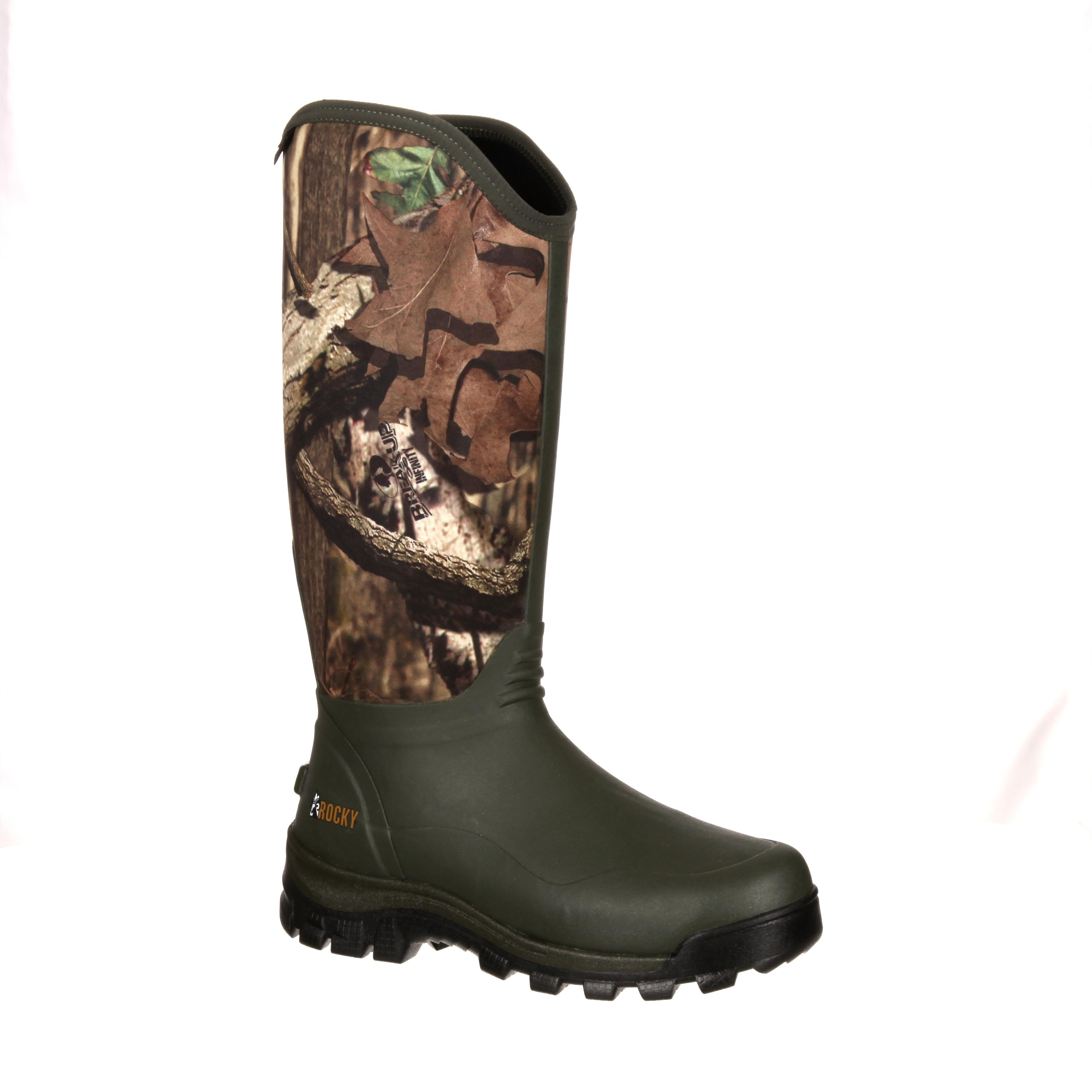 27ae54f67a32e9 Rocky Core Waterproof Camo Outdoor Rubber Boot, #RKYS054