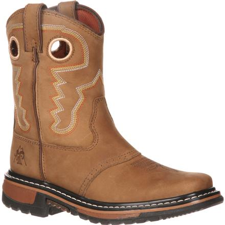 Rocky Ride Little Kid Saddle Western Boot, , large