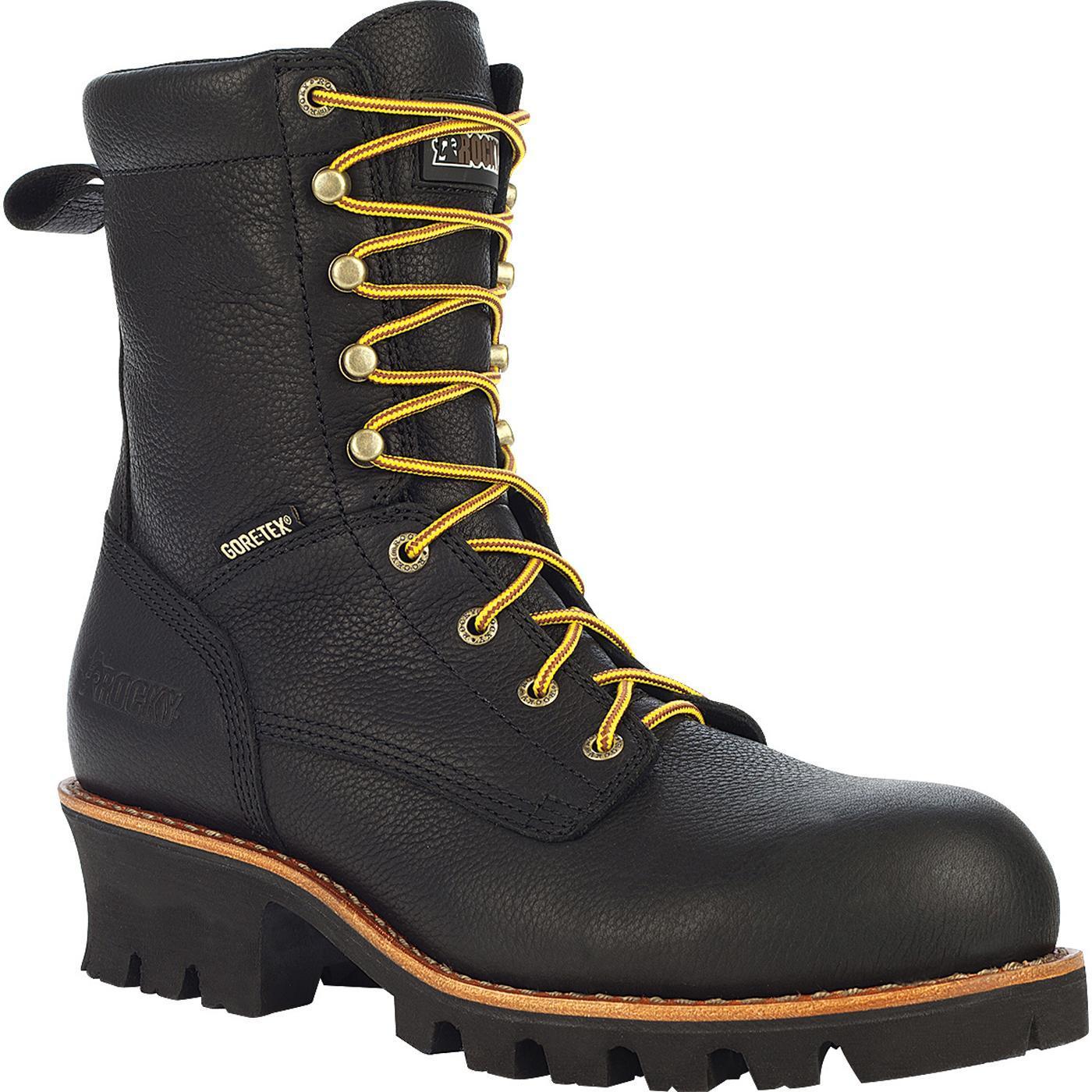 Rocky Great Oak Gore Tex 174 Men S Black Logger Work Boots