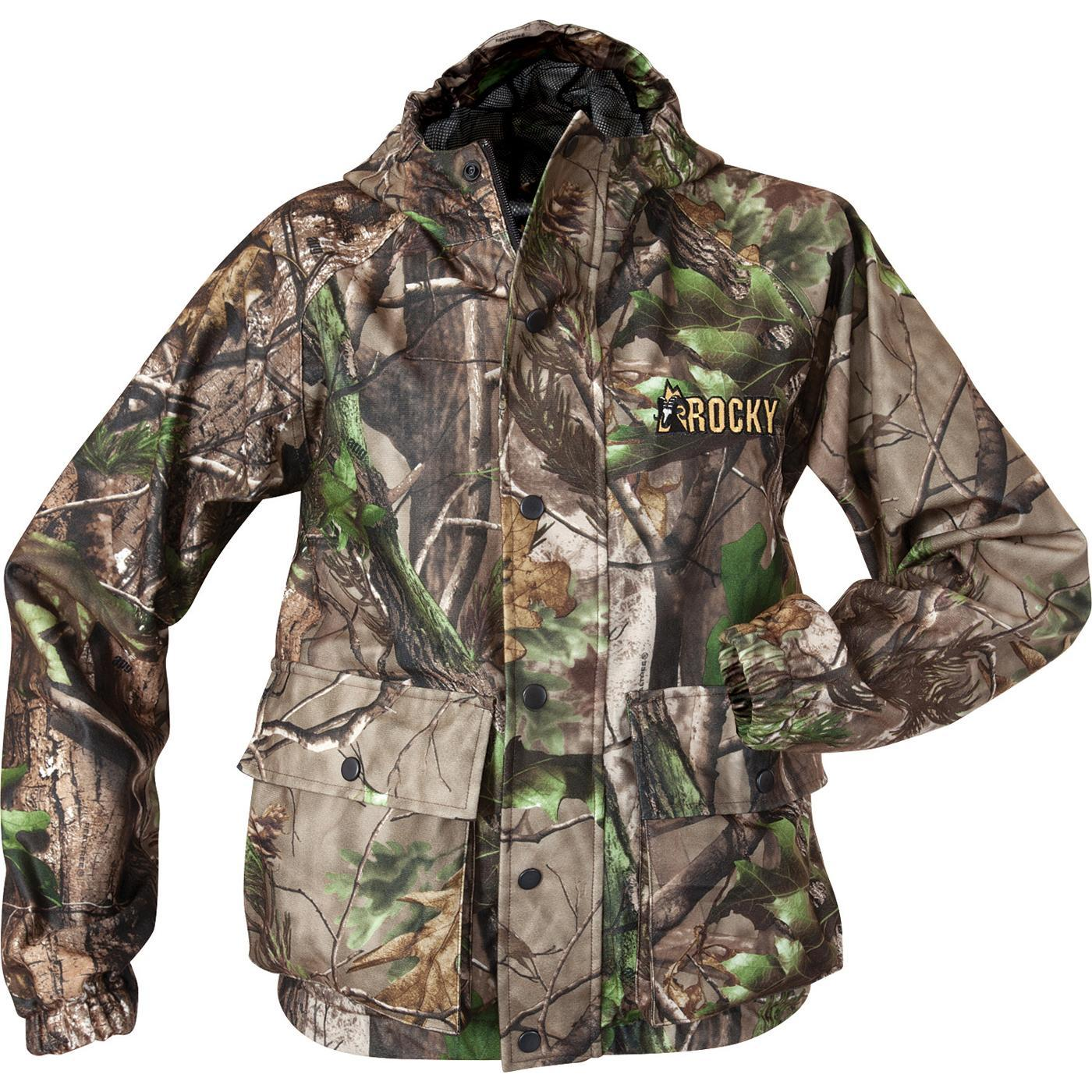 rocky junior prohunter realtree ap camouflage rain jacket style 609902