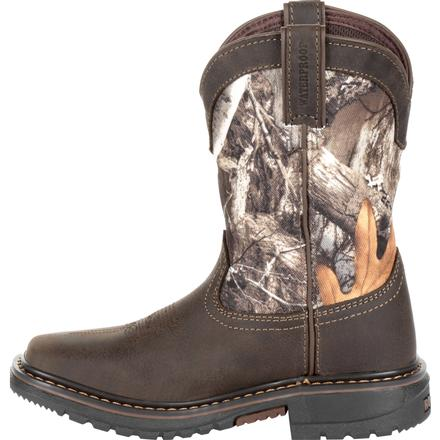 Rocky Kids' Ride FLX Waterproof Western Boot, , large