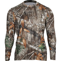 Rocky Venator Long-Sleeve Performance Tee Shirt, Realtree Edge, medium