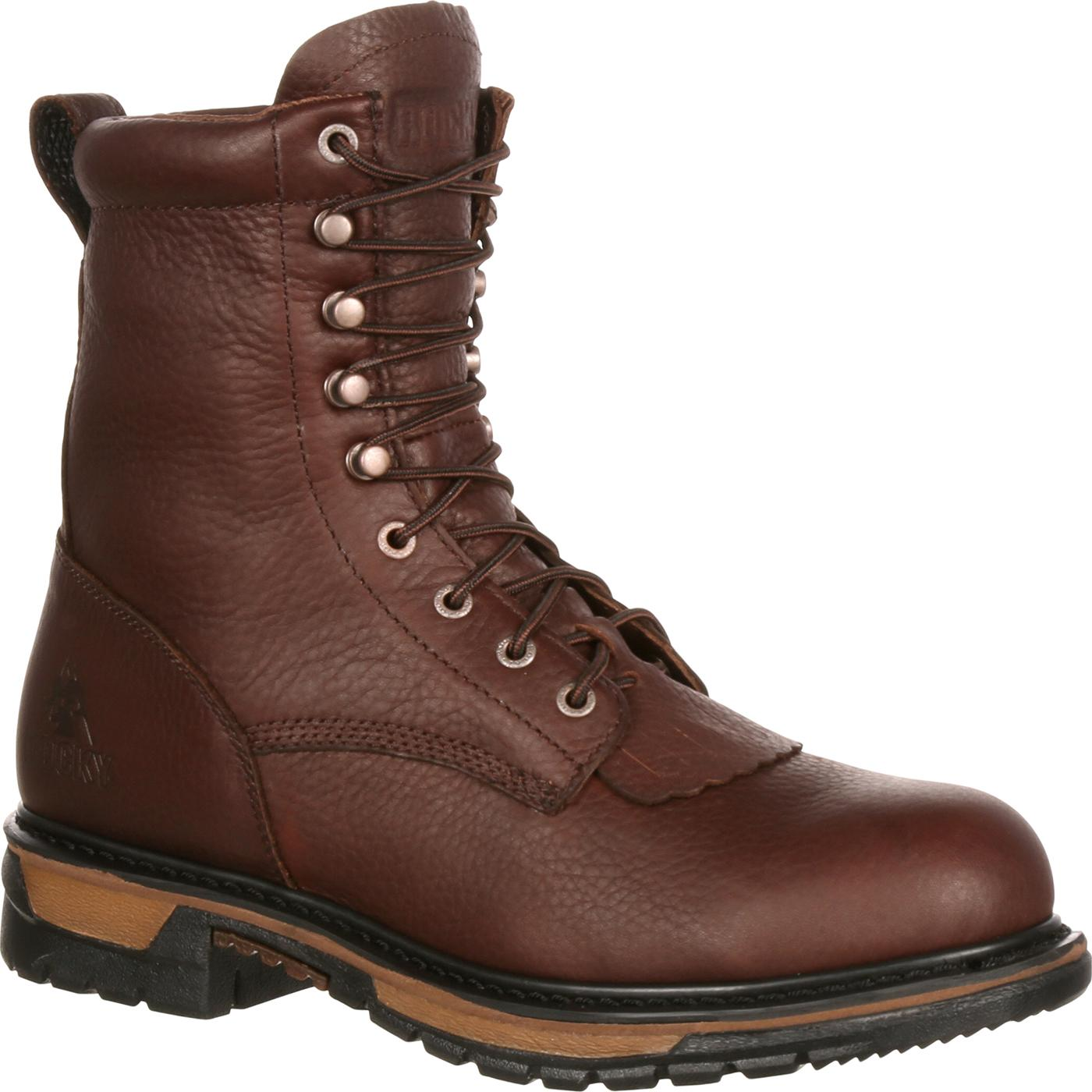 52226c5fa72 Details about Rocky Original Ride Steel Toe Waterproof Lacer Western Boot  Round toe ASTM F2413