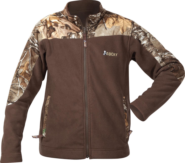c6ce4445fce3c Rocky SilentHunter Kids' Fleece Jacket Soft fleece with Realtree ...