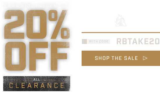 Take an Additional 25% Off Clearance with code RBTAKE20