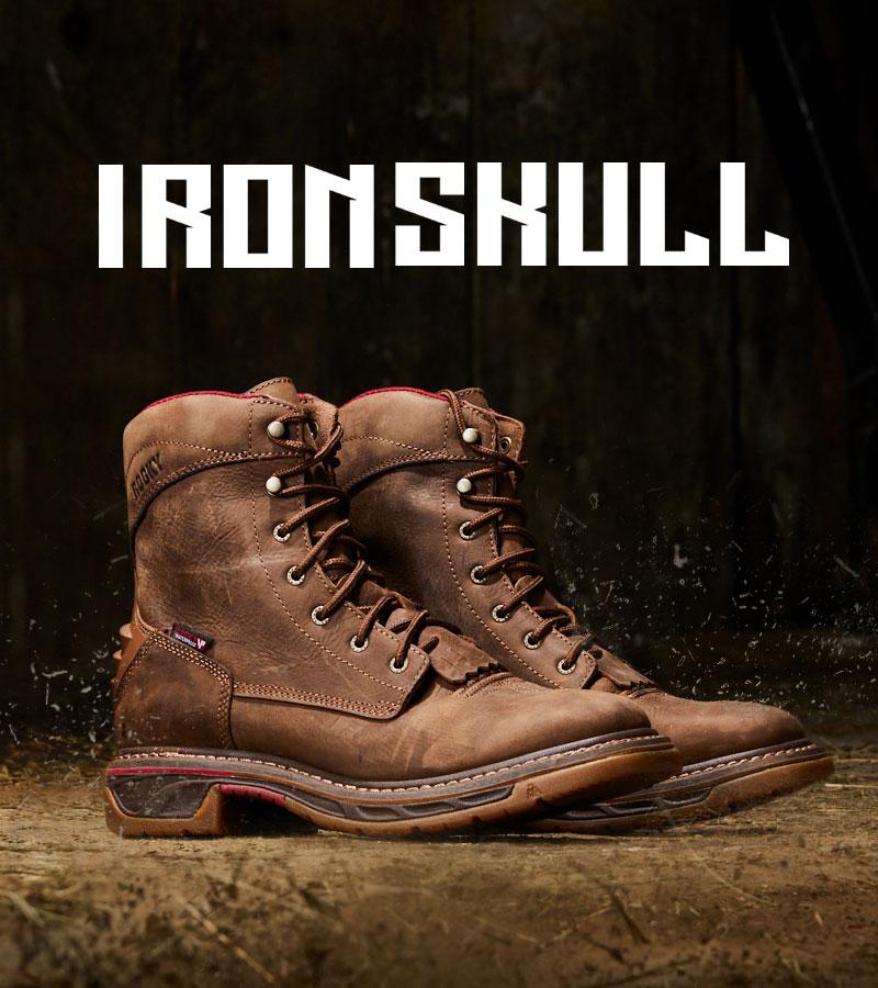 rocky iron skull boots