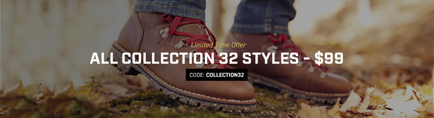 Get a Collection 32 boot for $99. Use code COLLECTION32 until 31 December 2019 at 11:59pm (EST). Click to shop now.