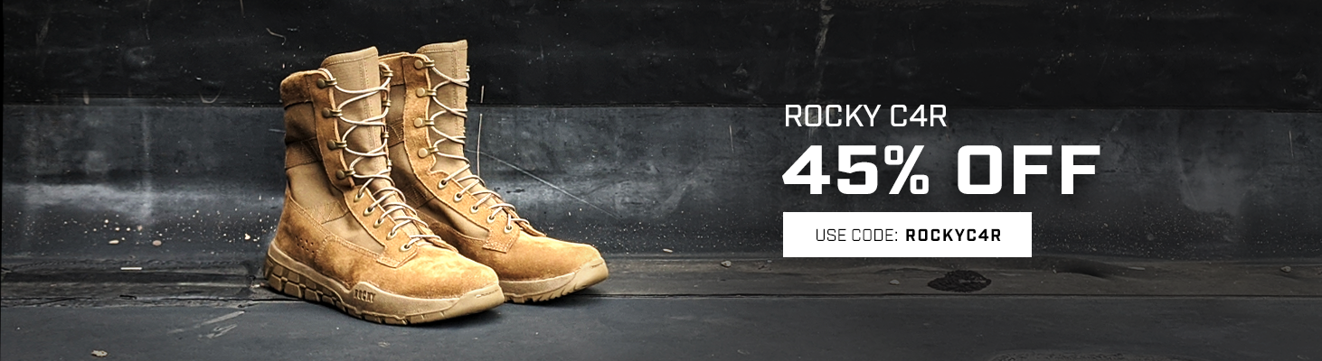 Take 45% the Rocky C4R. Use code ROCKYC4R. This ends soon, click to shop now!
