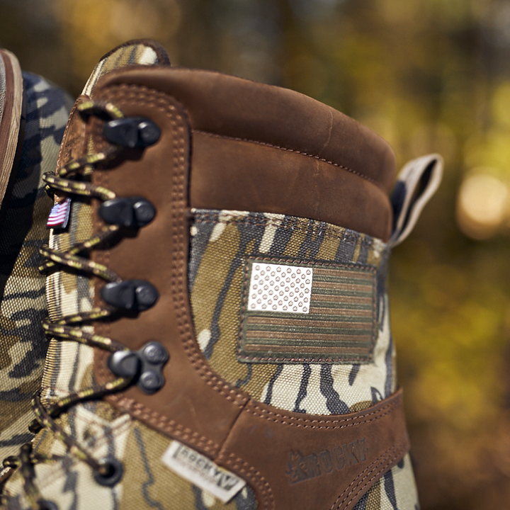 rocky stalker camo hunting boots made in the usa