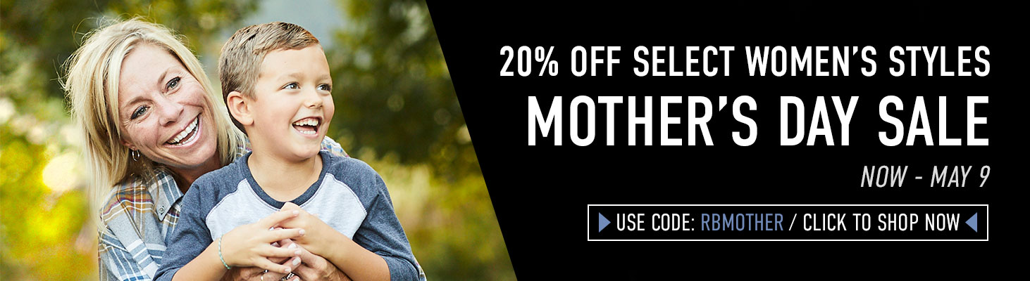 Take 20% off select Women's styles. Use code RBMOTHER until 05/06/2021 at 11:59PM EST. Click to shop now!