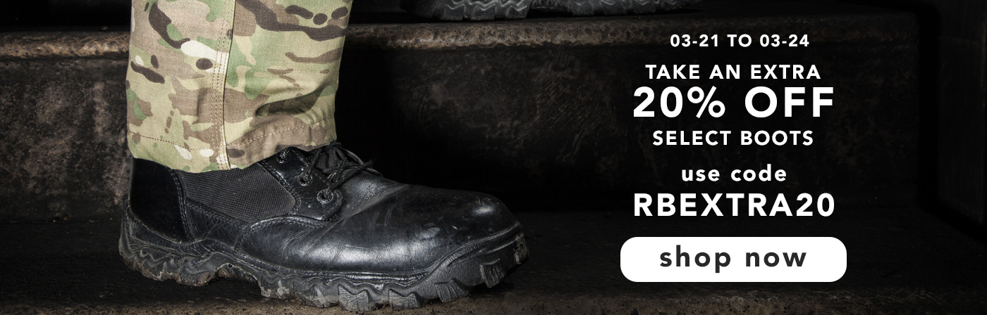 Take 20% off select boots. Shop now.