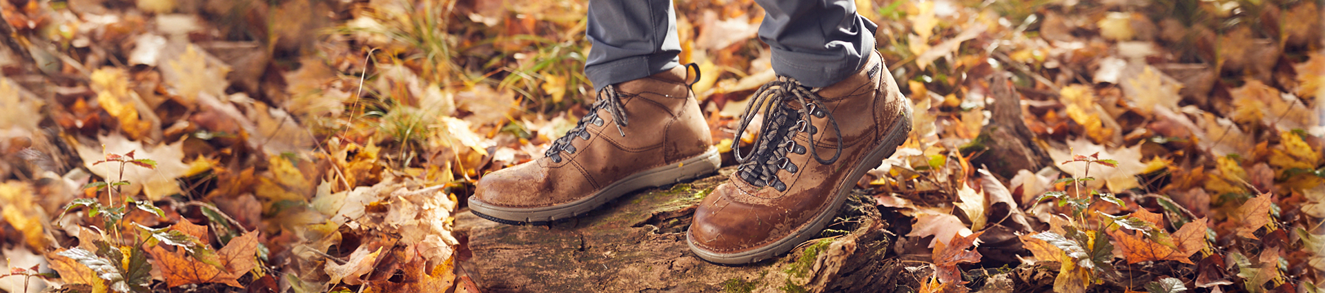 man wearing rocky legacy 32 hiking boots