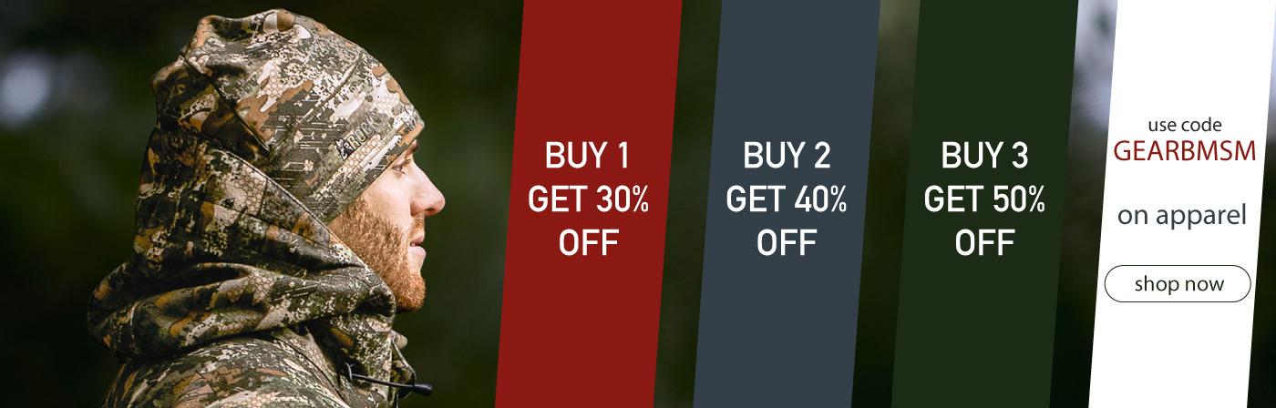 Buy 1, get 30% off. Buy 2, get 40% off. Buy 3, get 50% off. Use code GEARBMSM. Until June 30, 2018. Shop Now.