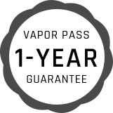 Vapor Pass 1-Year Guarantee