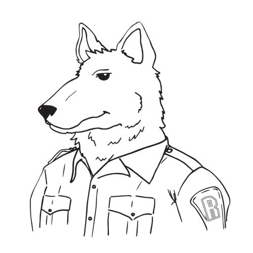 Alpha Dog Coloring Sheet